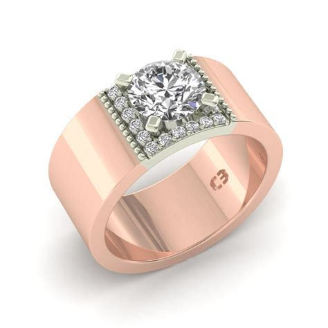 Wide Band Engagement Ring ? Cassandra Mamone