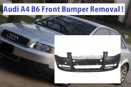 2003 Audi A4 Front Bumper Removal