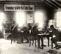 Soldiers Writing Letters Home