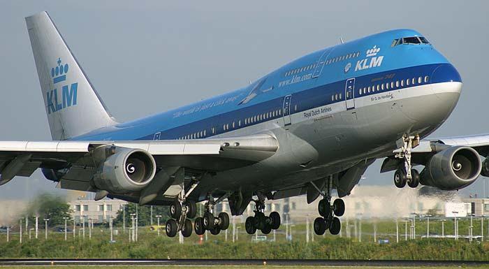 KLM Webseite Besuchen