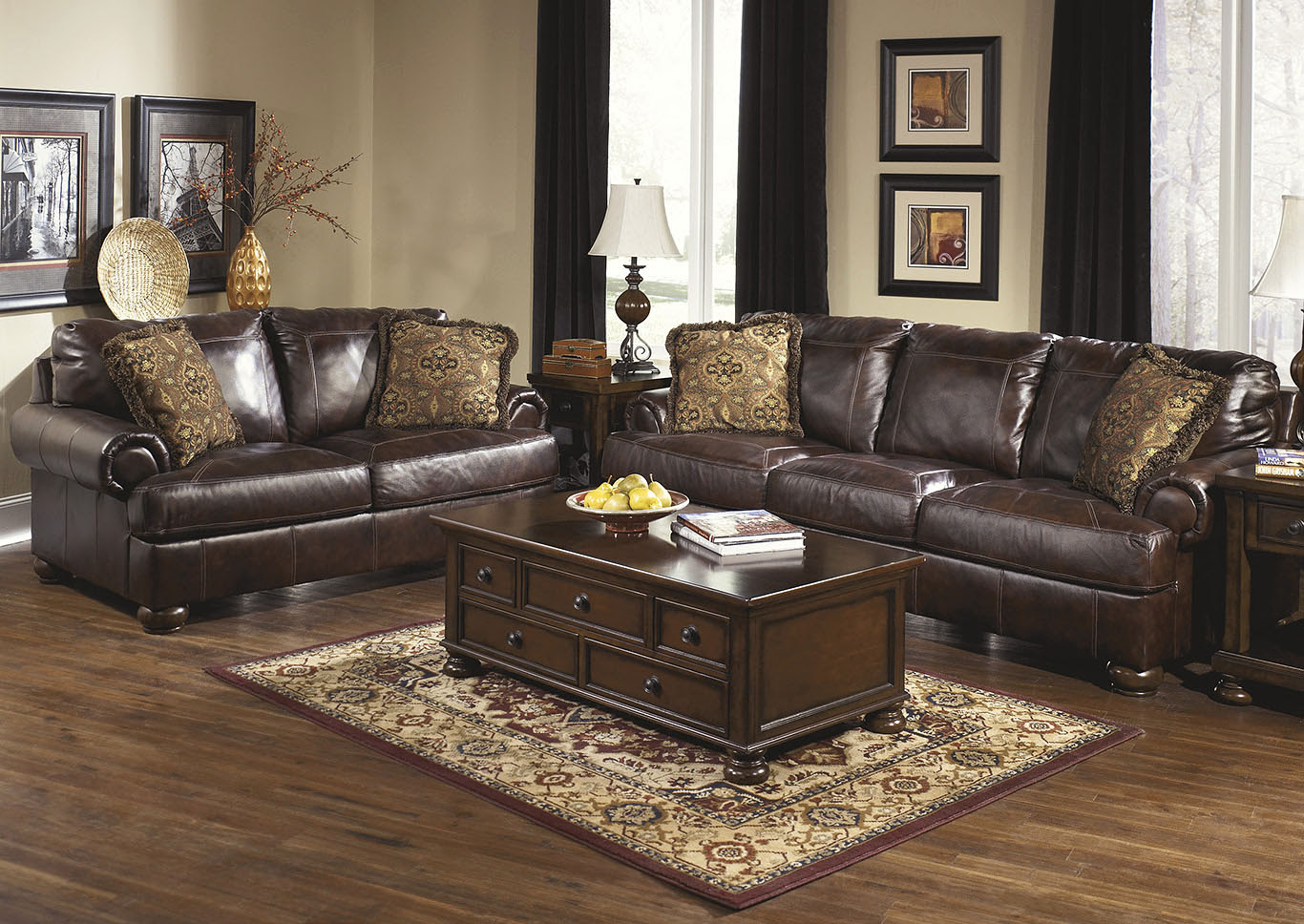 Maak Furniture Axiom Walnut Sofa Loveseat