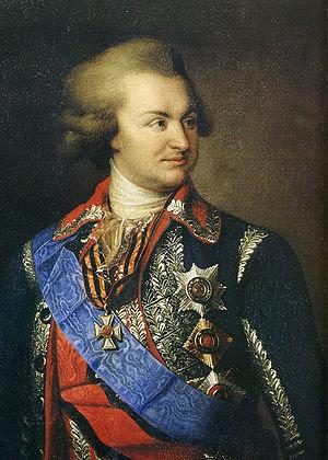 Portrait of russian fieldmarshal Prince Potemk...
