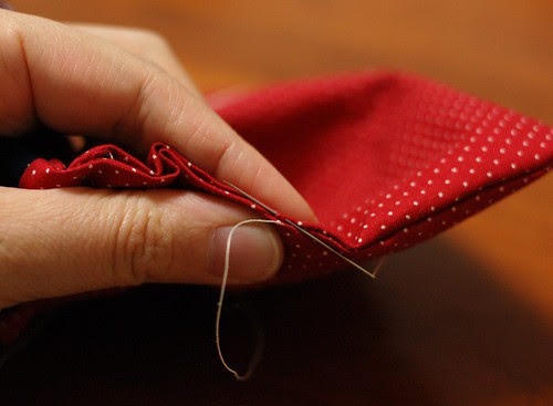 How to make a string quilt pouch 18