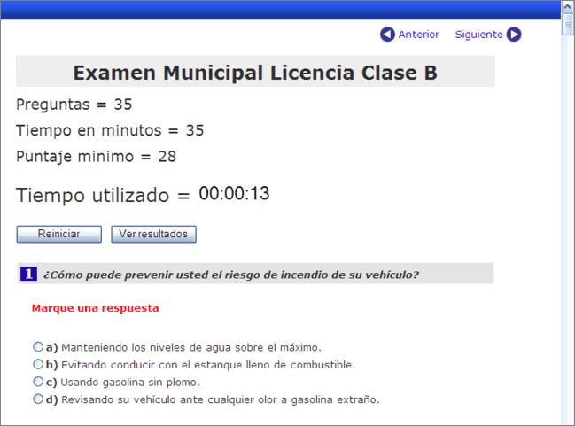 Examen Para Sacar Licencia De Conducir Clase B