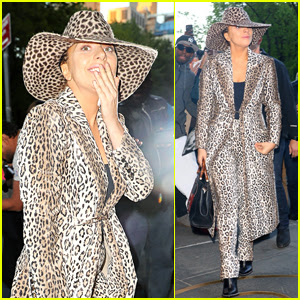 Lady Gaga Rocks Head to Toe Leopard Print Outfit in NYC