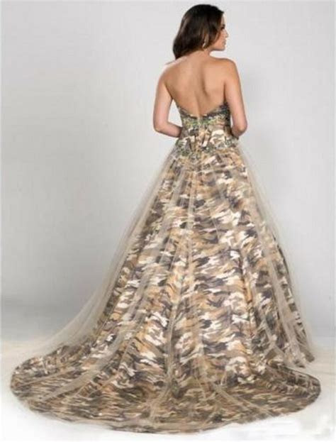 ball gown camo evening dress formal tulle camouflage
