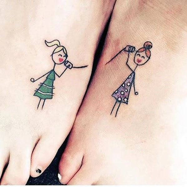 Adorable Sisters Forever Tattoo Design Ideas (40)