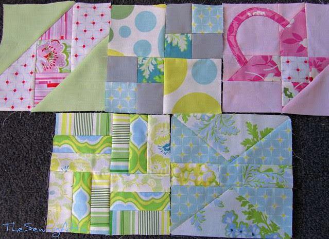 Farmers wife sampler quilt along first 5 blocks