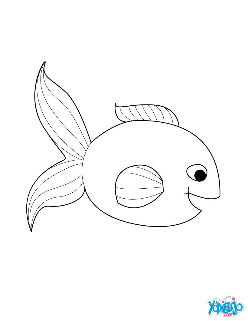 Dibujos Para Colorear Pez En El Agua Eshellokidscom