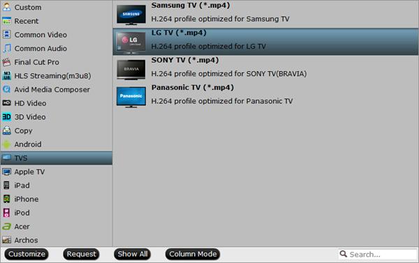 mxf to lg tv