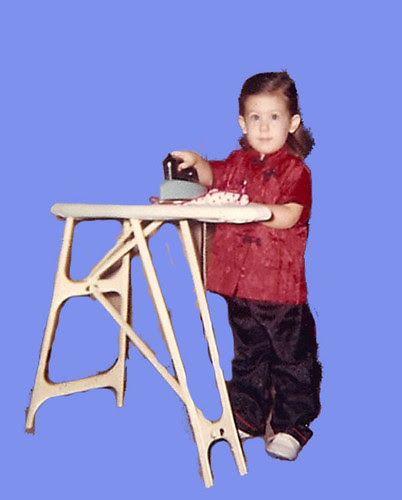 Me at 3 years old, ironing
