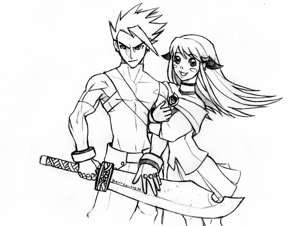 Boy And Girl Anime Drawing at GetDrawings | Free download