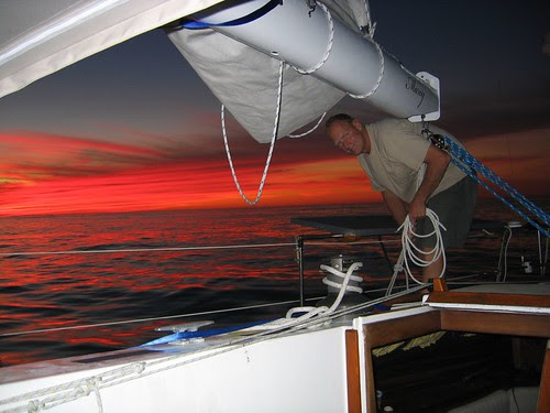1st sunset at sea after San Diego