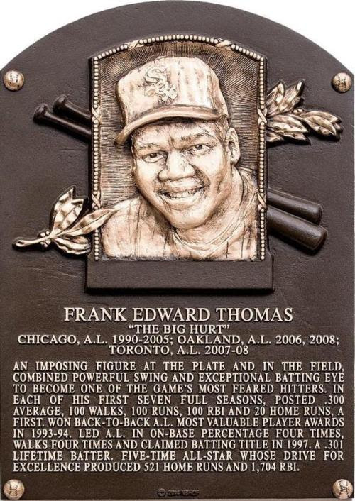 Frank Thomas HOF Plaque