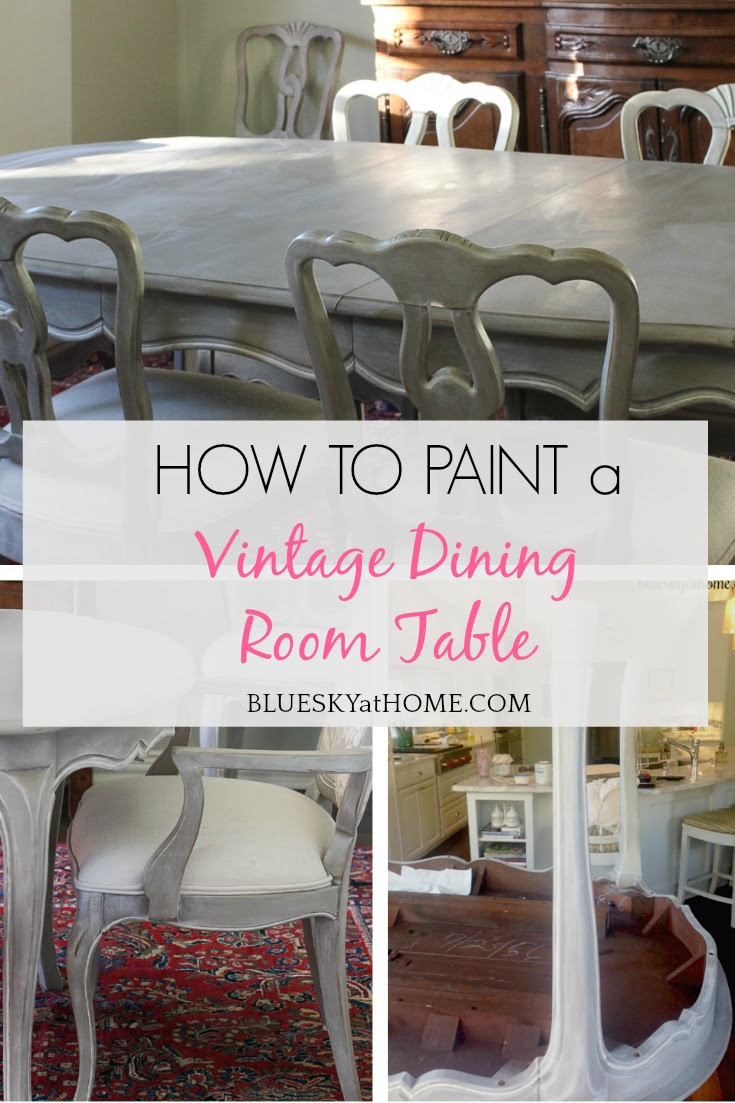 How to Paint a Vintage Dining Table ~ Bluesky at Home