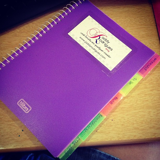 Caderninho de Organização.