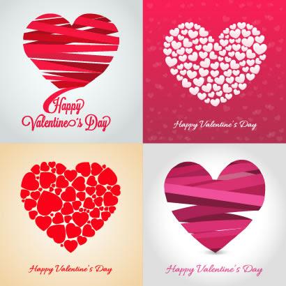 ハートバレンタイン結婚式カードのイラストaieps ベクタークラブ