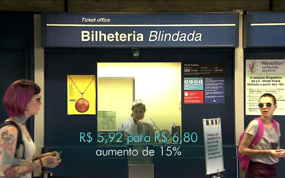 Integração ônibus + Metrô/CPTM vai ficar 15% mais cara (Foto: TV Globo/Reprodução)