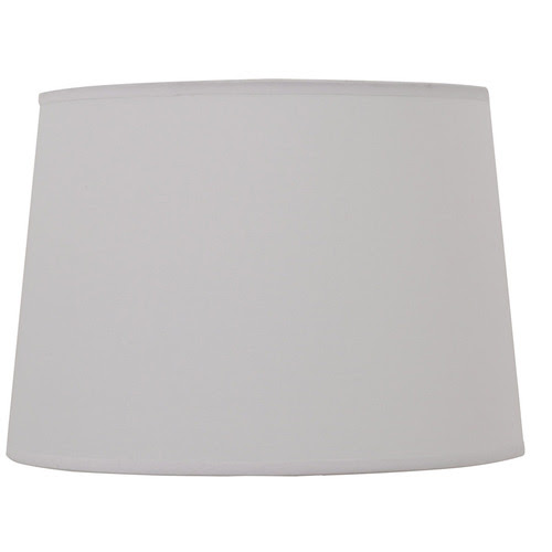 "Zoomed: Portfolio 11 X 13 X 9"" OFF WHITE DRUM LAMP SHADE"