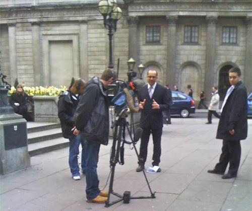 News outside Bank of England