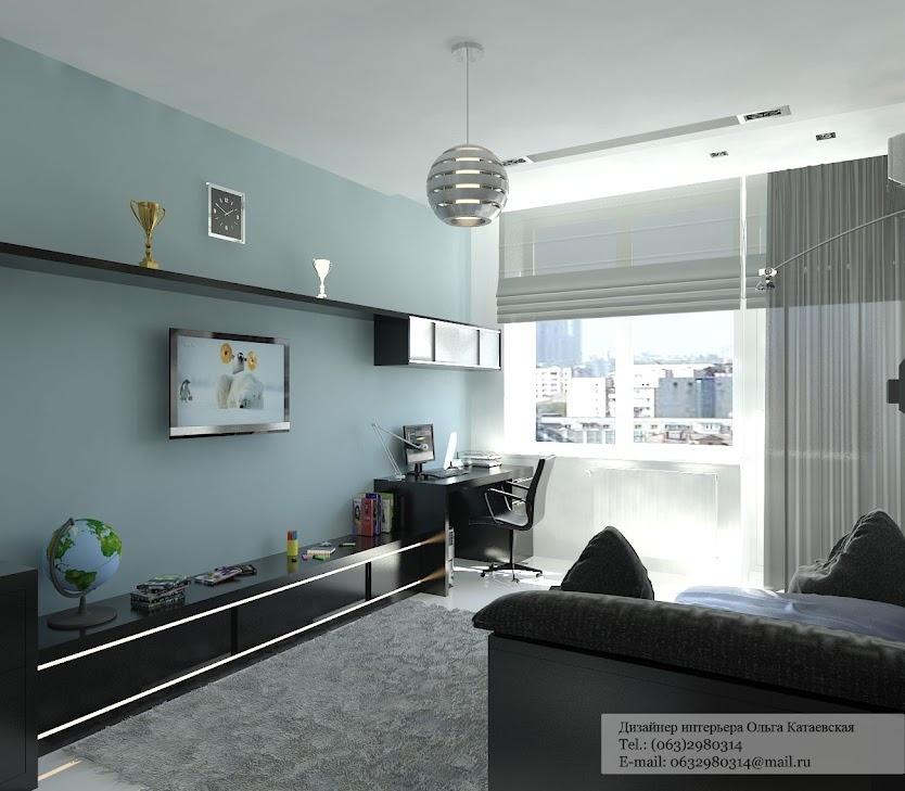 Black blue living room | Interior Design Ideas.