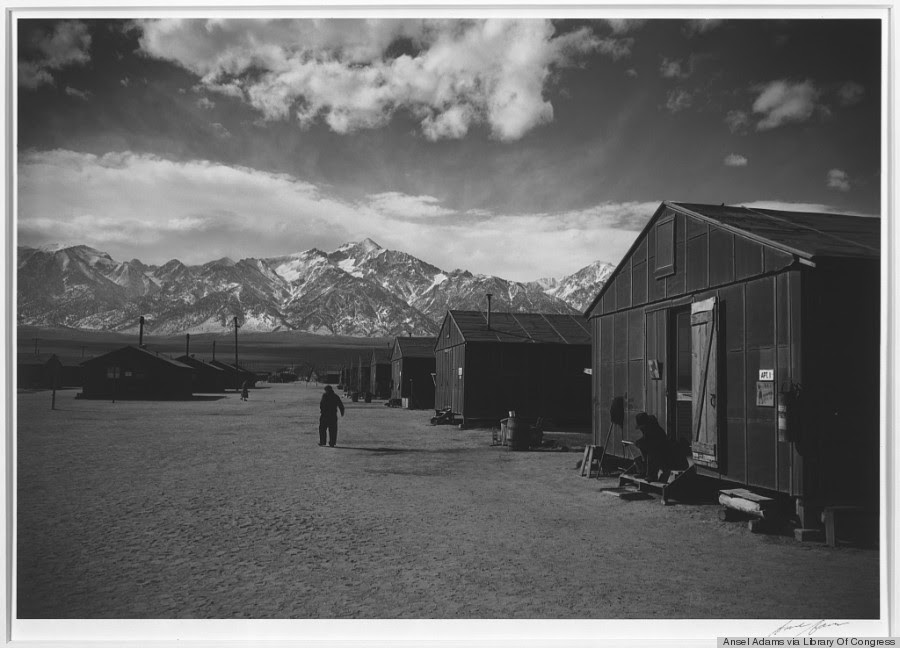 manzanar street scene winter