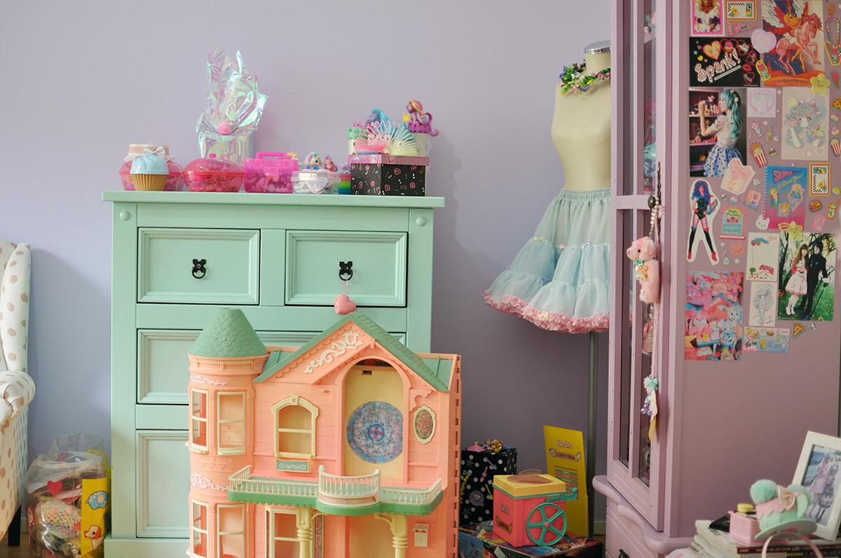 quarto com brinquedos