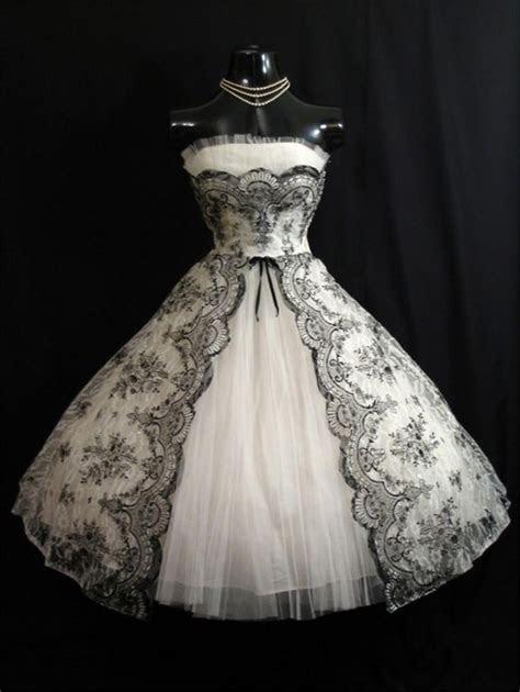 Cheap Vintage 1950s Black White Short Wedding Dresses 2016