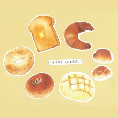イラストによる食卓パン屋ステッカー 雑貨通販 ヴィレッジヴァン