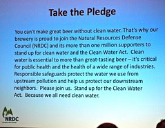 Brewers take the clean water pledge