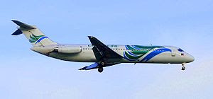 Domestic carriers use the DC-9 for local air t...