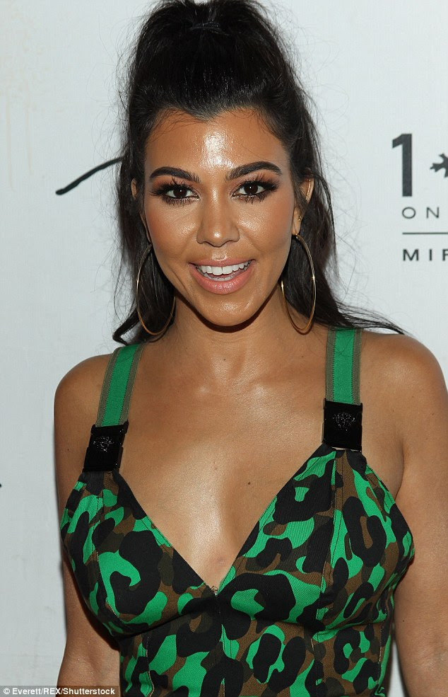 Stunning: The Keeping Up With The Kardashians star's make-up looked pristine