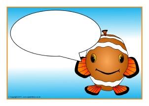 Clown Fish-Themed Classroom Printables - SparkleBox