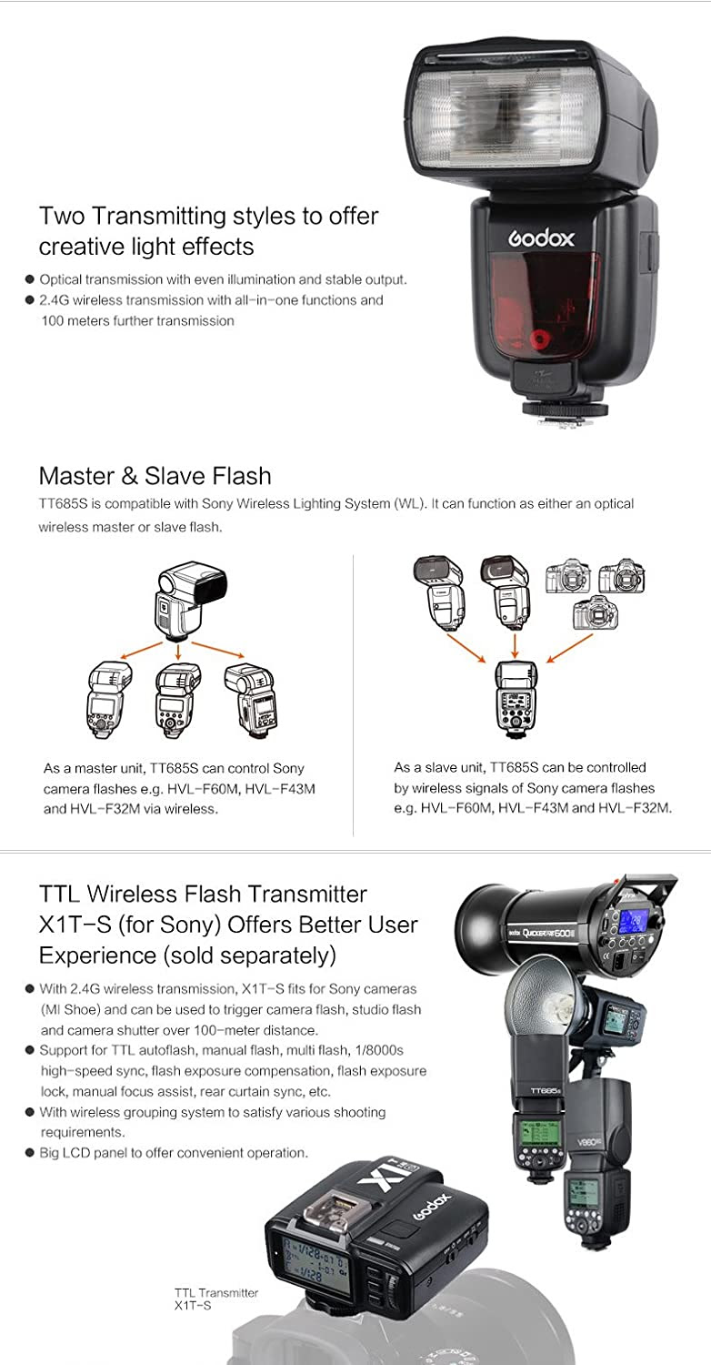sony godox tt685s wireless ttl flash