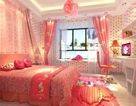 wallpaper dinding kamar tidur  kitty kamar tidur