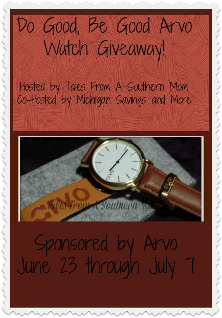 Do Good Be Good Arvo Watch Giveaway. Ends 7/7