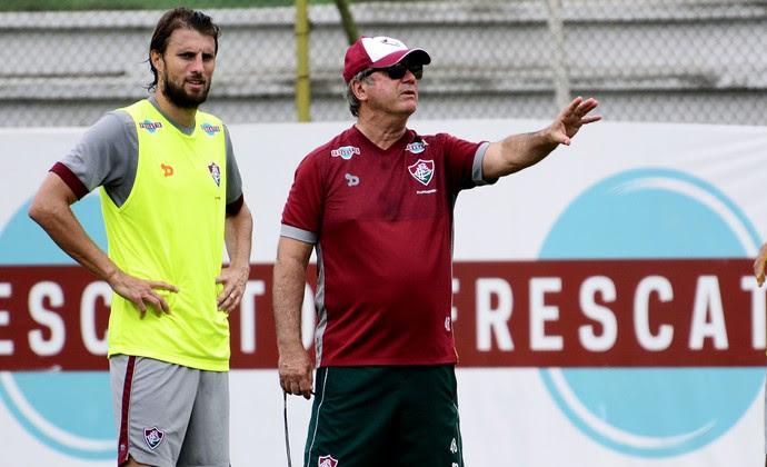 Henrique e Levir Culpi, Fluminense (Foto: Mailson Santana/Fluminense FC)