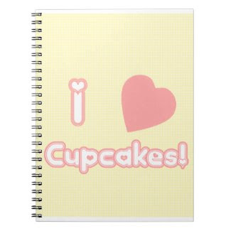 I Heart Cupcakes! Notebook notebook