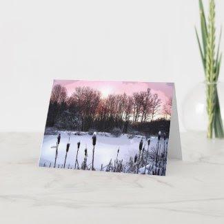 Sunrise Pond Christmas card