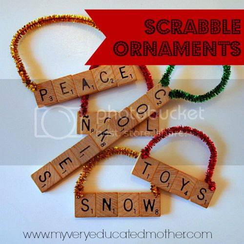 #NUO2013 Scrabble #Ornaments #Christmas www.myveryeducatedmother.com