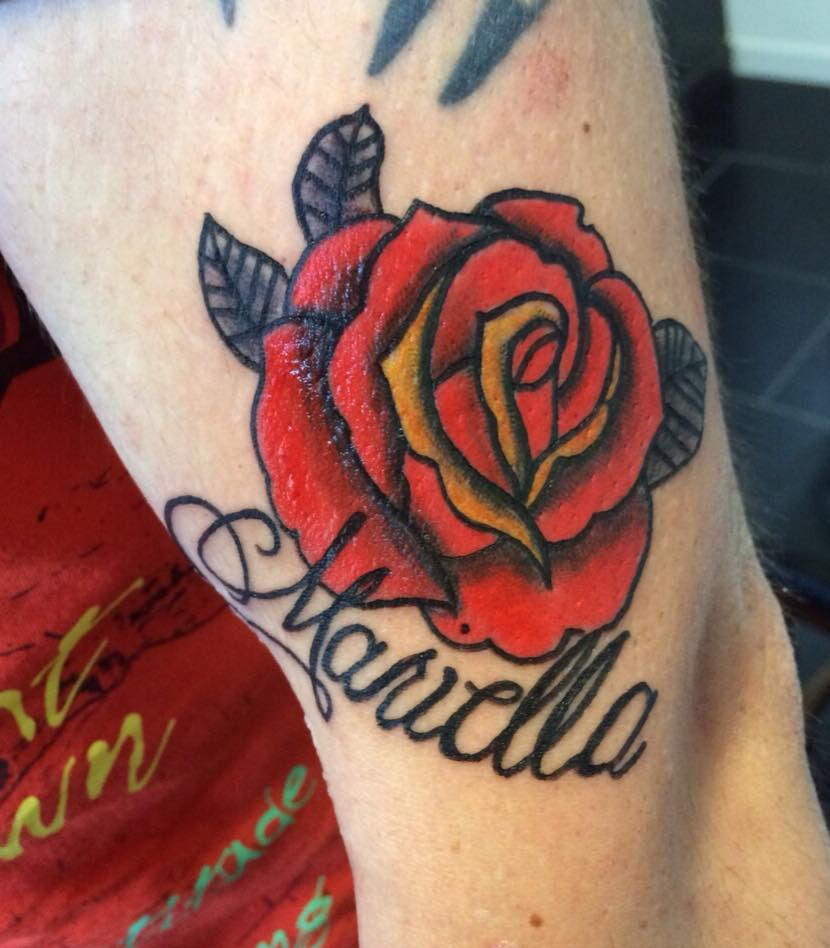 Rose Old School Twentynine Tattoo