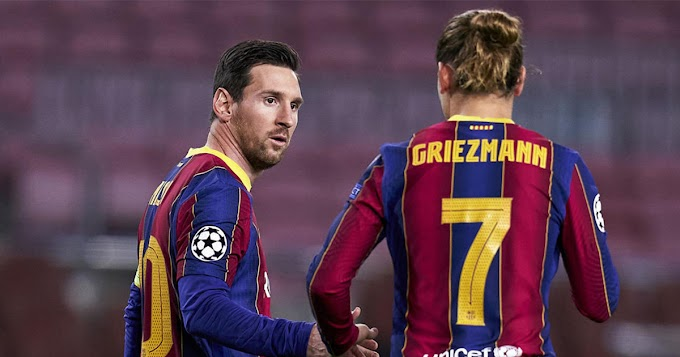 Revealed: Messi gave Griezmann just one pass while Antoine passed Leo twice in Atletico game