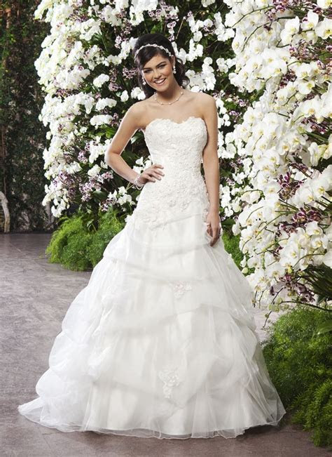 Sincerity wedding dress style 3721 A tulle pick up ball