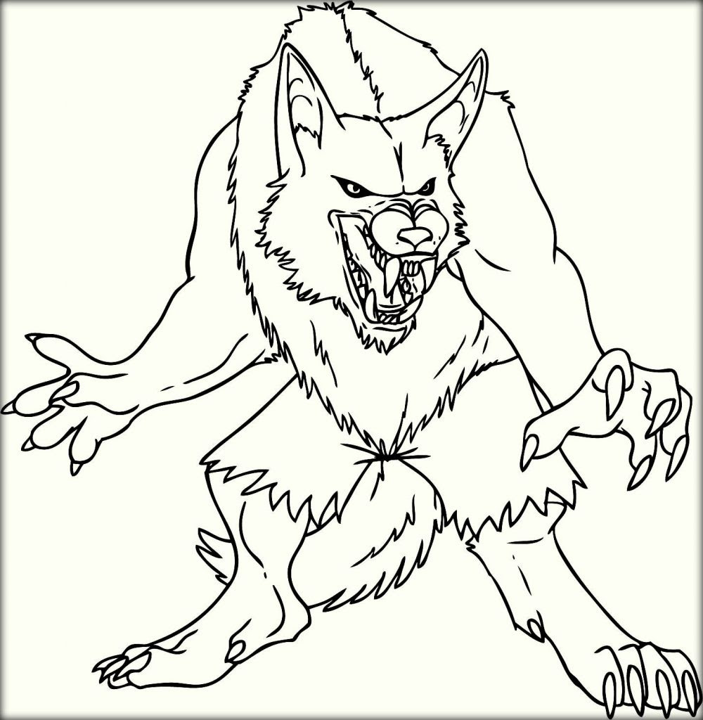 Werewolf coloring, Download Werewolf coloring for free 2019
