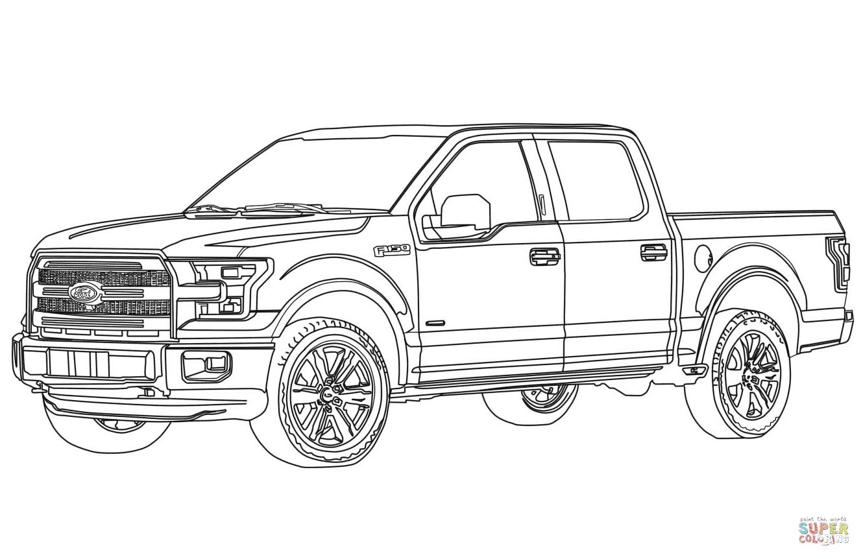 Ford F150 coloriages pour visualiser la version imprimable ou colorier en ligne patible avec les tablettes iPad et Android