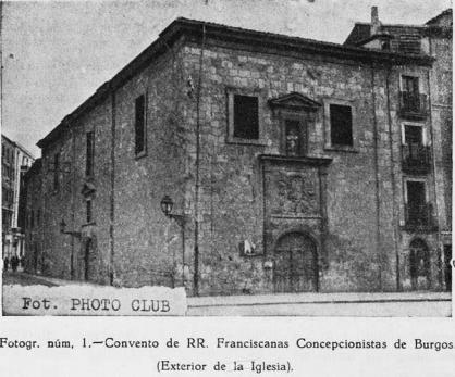 Resultado de imagen de Monasterio de Franciscanas Concepcionistas de San Luis (Burgos)