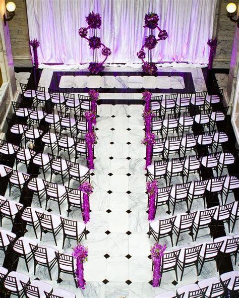 Wedding ceremony in purple, black and white   Ceremony
