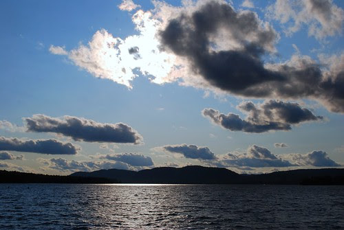 Morning on a mountain lake