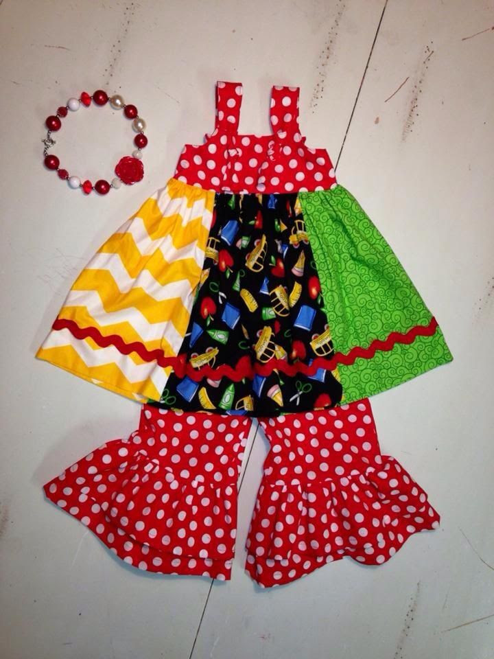Custom made First day of Kindergarten outfit!