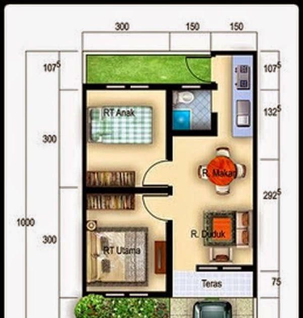 70 Desain Rumah Sederhana 1 Lantai Type 36